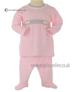 Designer Stella Italian Baby Girls Velour Tunic top & Trouser DD2816