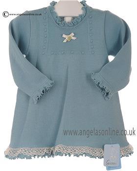 Granlei baby girls knitted dress 2-1331 teal