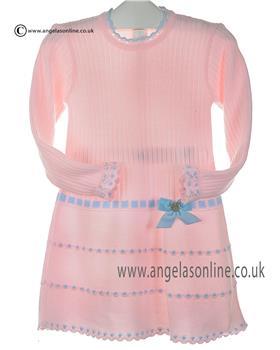 Granlei girls knitted dress 2-1310-16 Pk/bl