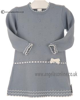 Granlei Girls Knitted Dress 2-1466 Blue