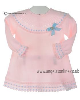 Granlei baby girls knitted dress 2-1311-16 Pink