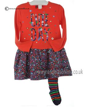 Boboli girls dress & tights 402040-402118