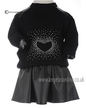 Bufi Girls Jumper & Skirt 9824 Black