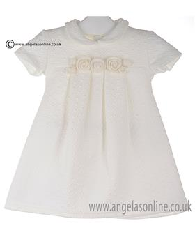 Bufi Girls Rosette Dress 9731X Cream