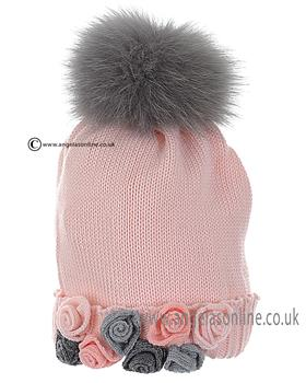 Bufi Girls Hat 9828SC Pink