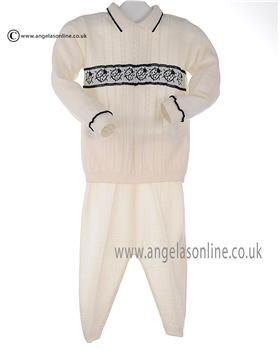 Bufi Boys Knitted Jumper & Pants 9853M2 Cream