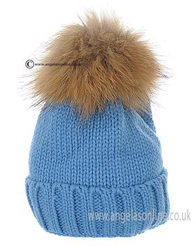 Anders Boys Pom Pom Hat 1709-13 Royal Blue
