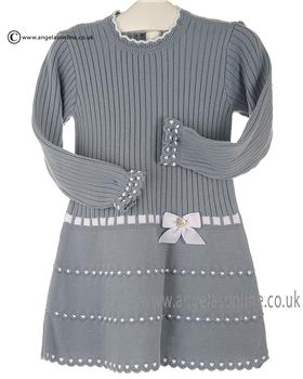 Granlei girls knitted dress 2-1310-16 Dark Blue