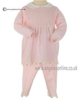 Stella baby girls Knitted dress & leggings DD3018 Pink