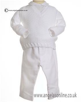 Pretty Originals boys polo-tanktop-trouser JPC2165 WH-WH
