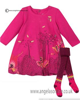 Catimini baby dress & tights CI30201-94021