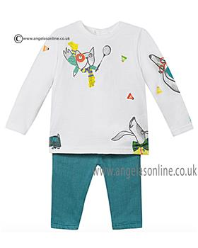 Catimini baby boys top & trouser CI36291 Green