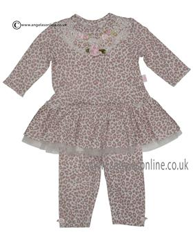 Kate Mack Baby Girls Dress & Legging 322CR Pink