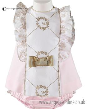 Miranda baby girls dress & panties 21-0035-VB Pink