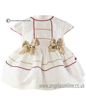 Miranda baby girls dress 21-0190-V White