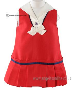 Miranda baby girls dress 21-0192-V Red