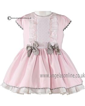 Miranda girls dress 21-0244-V Pink