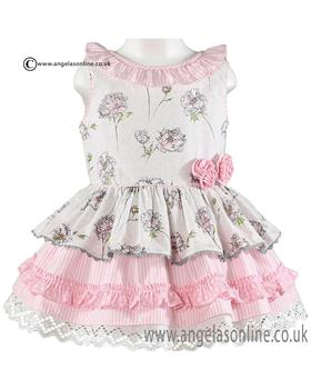 Miranda girls dress 21-0245-V Dark Pink