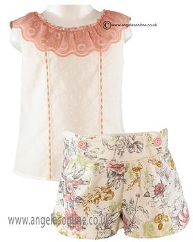 Miranda girls top & floral shorts 21-0278-2/21-0278-3