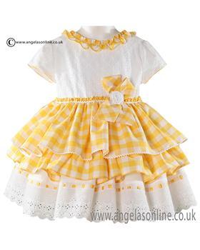 Miranda girls dress 21-0281-V Yellow