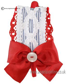 Miranda girls detailed headband with bow 21-1809-296