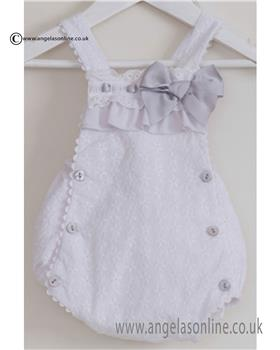 Dolce Petit baby girls romper 21-2112-P Wh/Pk