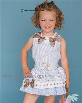 Dolce Petit girls blouse & skirt 21-2226-2/21-2226-3 Blue