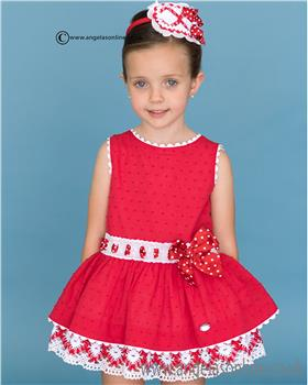 Dolce Petit girls dress 21-2246-V Red