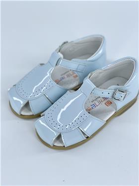 Andanines boys blue patent leather sandal 161824 Blue Patent