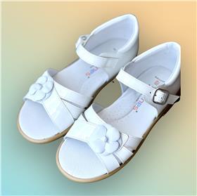 Andanines Girls Sandal 151.313 White Patent