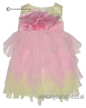 Kate Mack baby girls dress 161GP-17 Pink