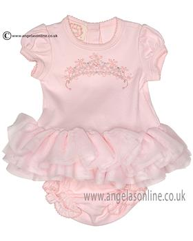 Kate Mack baby girls dress & panty set 311PR Pink
