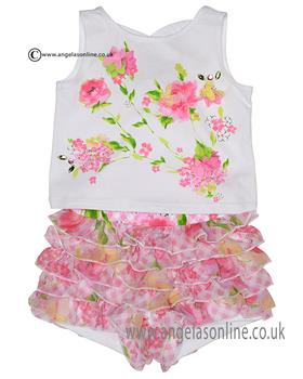 6480f69b9a8b7 Kate Mack girls T-shirt   short set 517GG Pink