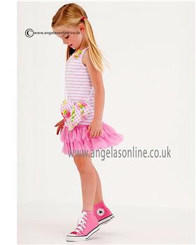 Kate Mack girls knit dress 521GG Pink