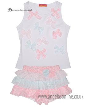 Kate Mack girls top & skort set 723-724PP