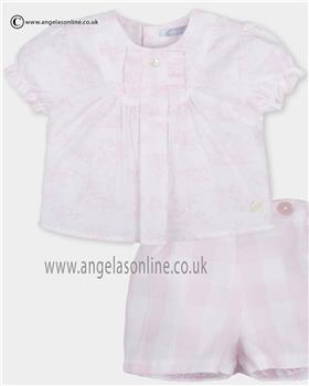 Tutto Piccolo girls top & short set 2113-2311 Pink