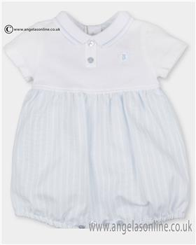 Tutto Piccolo baby boys short sleeve romper 2815 Blue