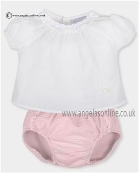 Tutto Piccolo boys blouse & panties set 2000-2701 Wh/Pk