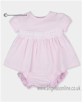 Tutto Piccolo girls dress & knickers 2787-17 pink
