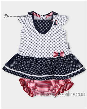 Tutto Piccolo girls dress 2780-17 Navy