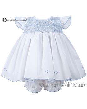 Sarah Louise dress & pant set 010631 Wh/Bl