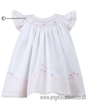 Sarah Louise girls summer dress 010642 Wh/Pk