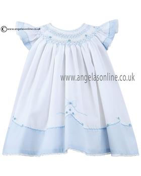 Sarah Louise girls summer dress 010642 Wh/Bl