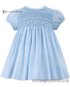 Sarah Louise girls summer dress 010688 Blue