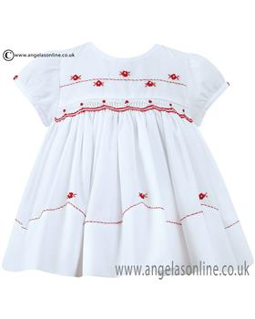 Sarah Louise girls dress 010653 Rd/Wh