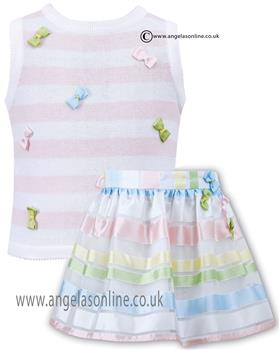 Sarah Louise girls top & skirt set 010773-010774