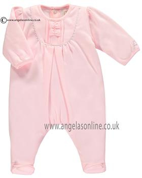 Emile et Rose baby girl all in one & bib Katie 1691pp Pink