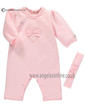 Emile Et Rose Girls All-In-One & Headband Kitty 1702pp Pink