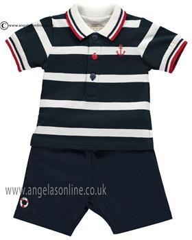 Emile et Rose boys T-shirt & short set Kent 5322nv Navy