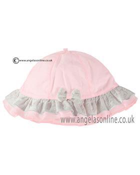 Emile et Rose girls sunhat with bow Karlotta 4733-17pp Pink
